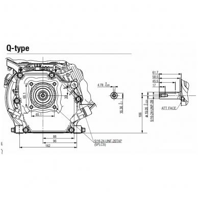 Benzininis variklis HONDA GX160, 19mm velenas 2