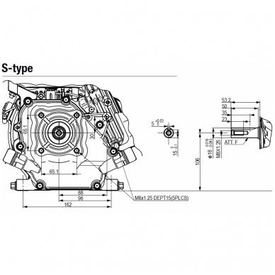 Benzininis variklis HONDA GX120, 18mm velenas 2
